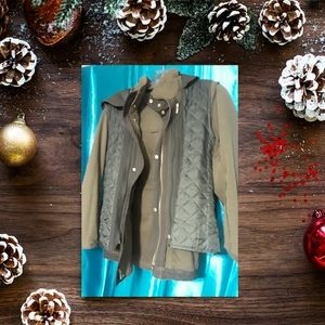 Zara Green  hooded Olive  Jacket
